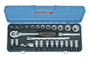 "Socket set 1/2"" 27 pcs UD 10-30 mm"
